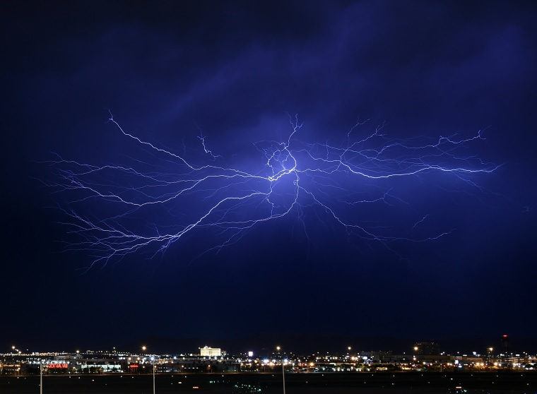 Image: Strong Thunderstorms Hit Las Vegas