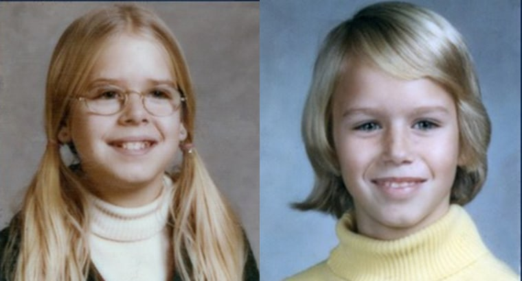 Sheila (left) and Katherine (right) were 12 and 10 when they disappeared from the Wheaton Plaza shopping center in Maryland back in 1975.