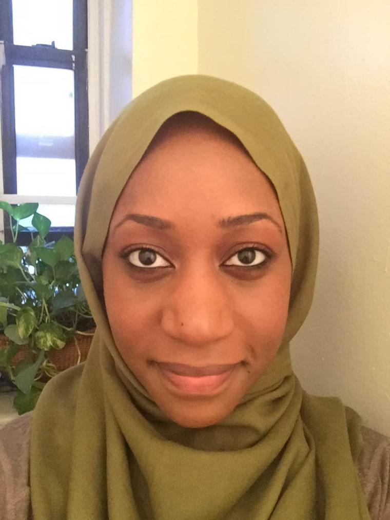 Faatimah Knight, one of the organizers of the #RebuildWithLove Muslim crowd-funding project to help rebuild the eight black churches burned in the wake of the Charleston church massacre.