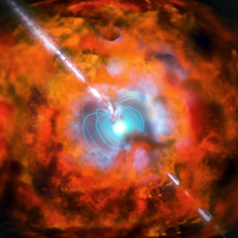 Image: Artist's impression or supernova and associated gamma-ray burst