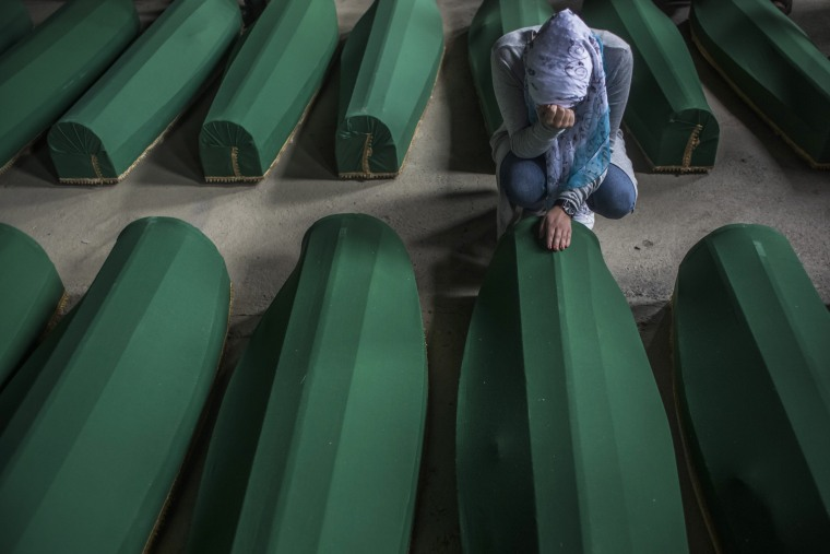 Image: 20 Years Since The Srebrenica Massacre More Victims Buried