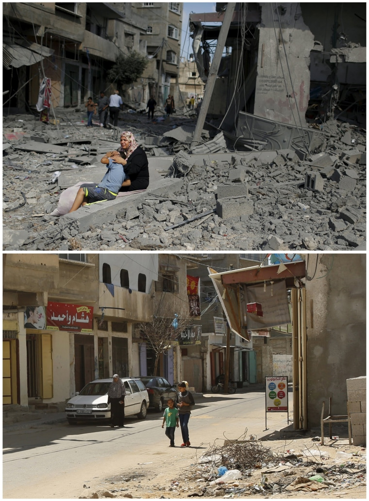One Year Anniversary of War Reveals Damage to Gaza Strip
