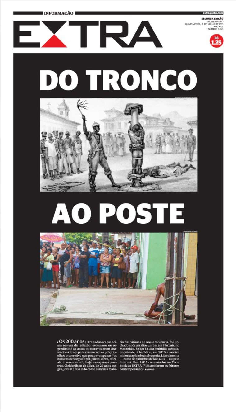 Image: The July 8th front page of Brazil's Extra newspaper