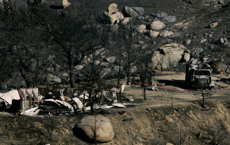 Image: Aftermath of the Esperanza fire in Twin Pines, Calif. in October 2006