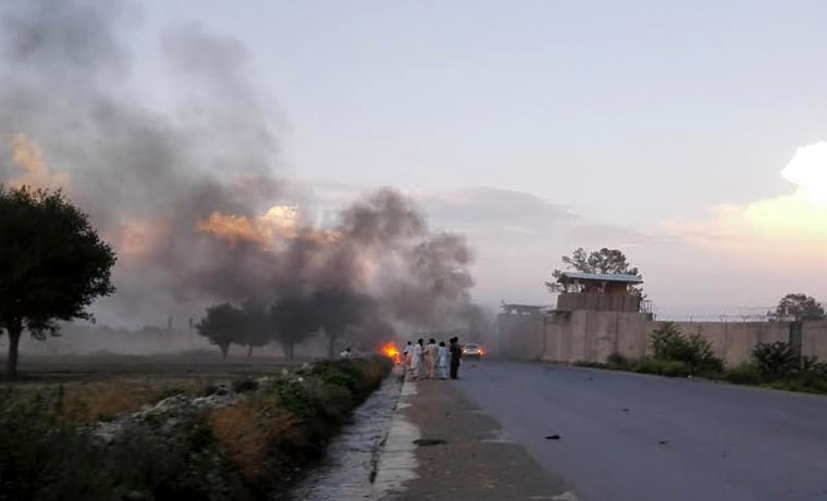 Image: Bomb attack near Camp Chapman in Afghanistan