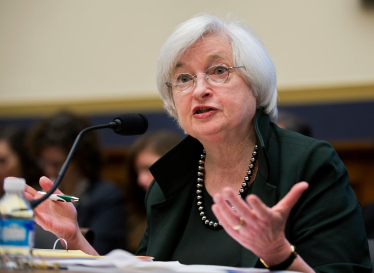 Image: Federal Reserve Chair Janet Yellen testifies on Capitol Hill