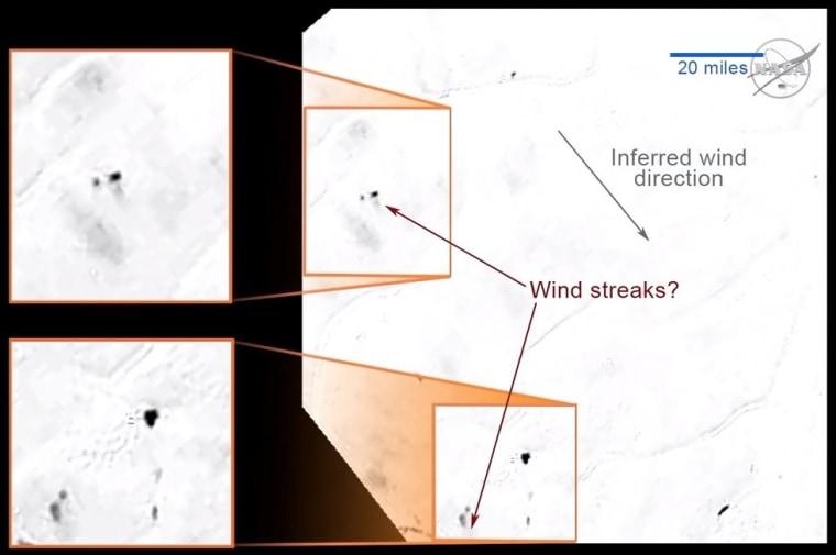 Image: Wind streaks on Pluto?