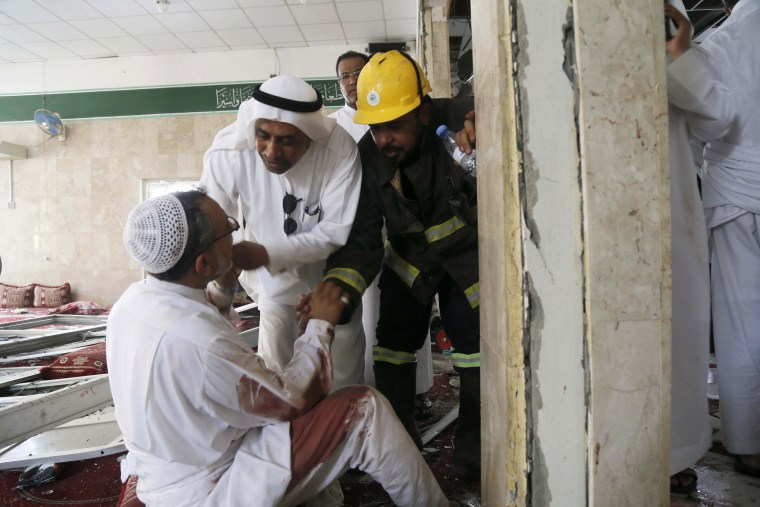 Image: Suicide bomber detonates inside Shiite mosque in Saudi's east