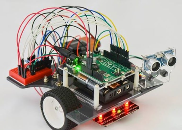 The Pi-Bot, designed by sisters Melissa and Lavanya Jawaharlal, teaching robotics and engineering in STEM programs around the world.
