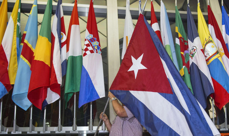 Image: Cuban Flag at State Department