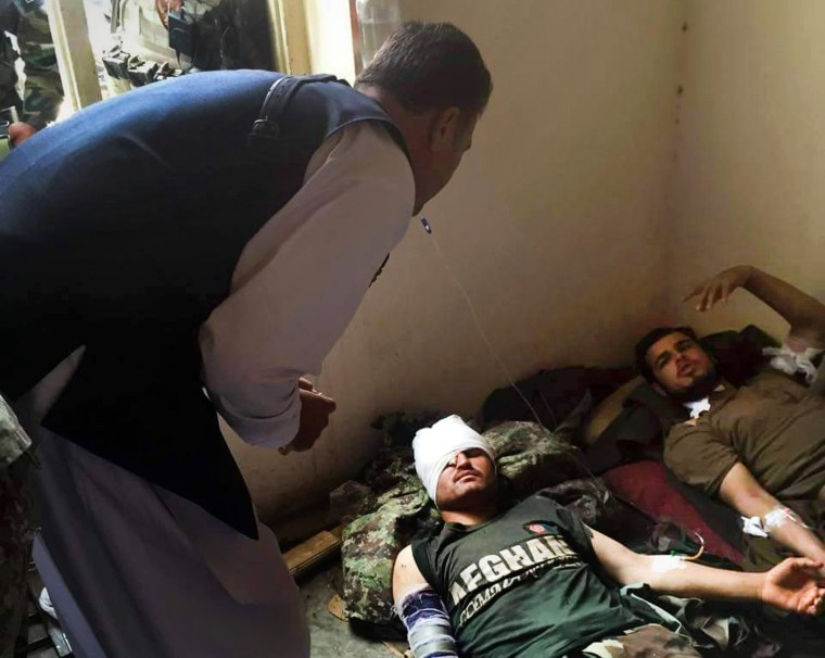 Image: Injured Afghan National Army soldiers receive treatment