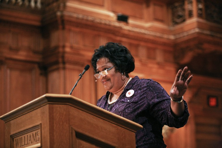 Image: Collette Flanagan speaking at Williams College  in February 2015. Claiming Williams Day.