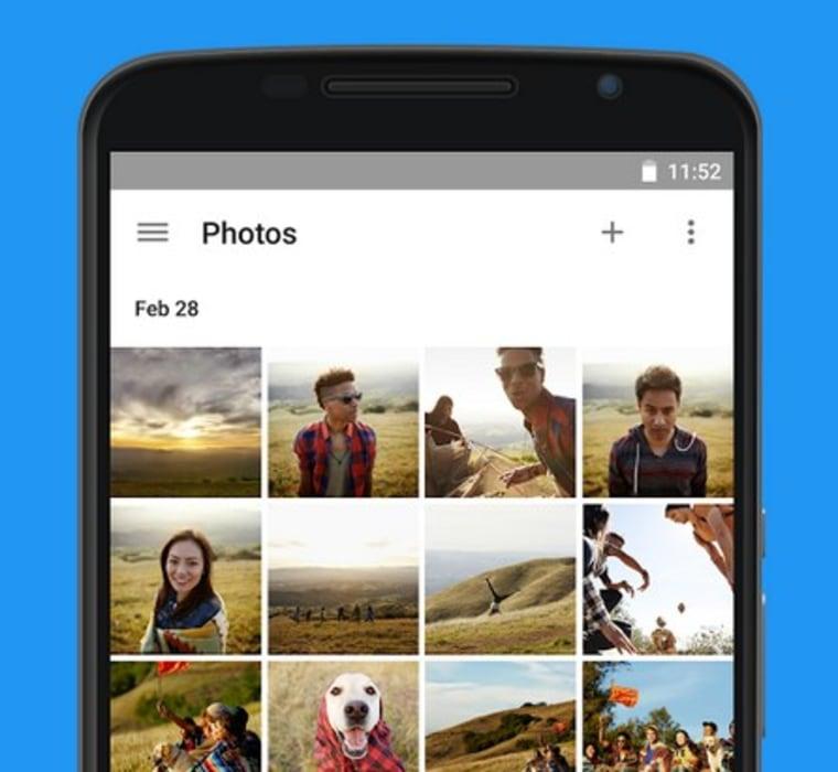 The new Google Photos app.