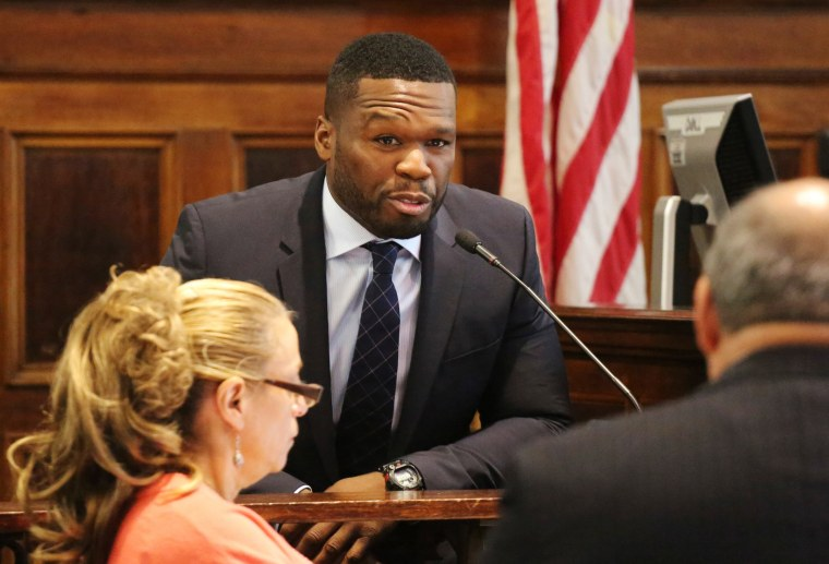 Image: Rapper 50 Cent appears in New York State Supreme Court in Manhattan