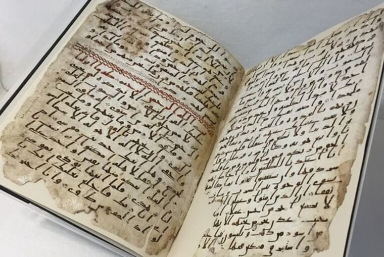 Image: Seventh-century Quran at the University of Birmingham