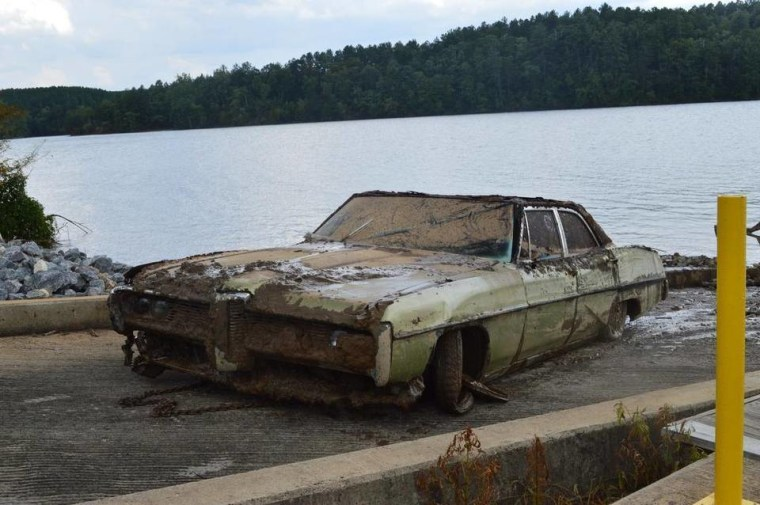the remains of Amos Shook – missing since 1972 – and identification cards in a 1968 Pontiac Catalina pulled from the bottom of Lake Rhodhiss in Caldwell County.