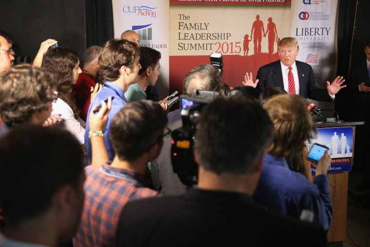 Image: Republican Presidential Candidates Address 2015 Family Leadership Summit