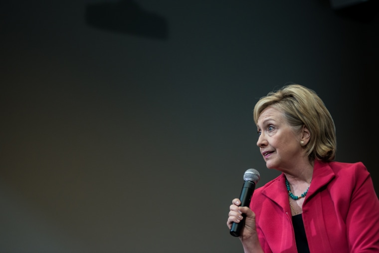 Image: Democratic Presidential Candidate Hillary Clinton Campaigns In South Carolina