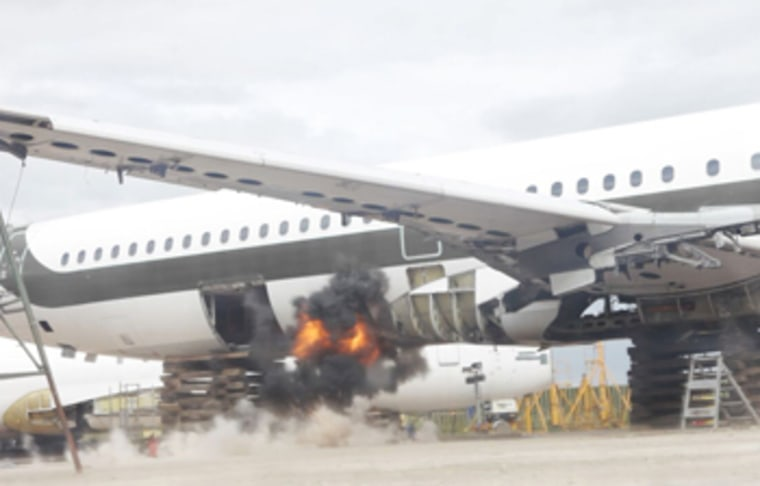 An explosion without a hardened or Fly-Bag protected hold could result in a breach, as shown in this picture. This plane was not equipped with the bomb-proof lining.