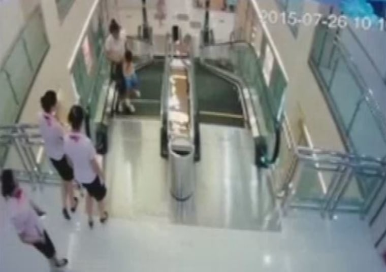 Image: Surveillance footage from the mall in Jingzhou, China