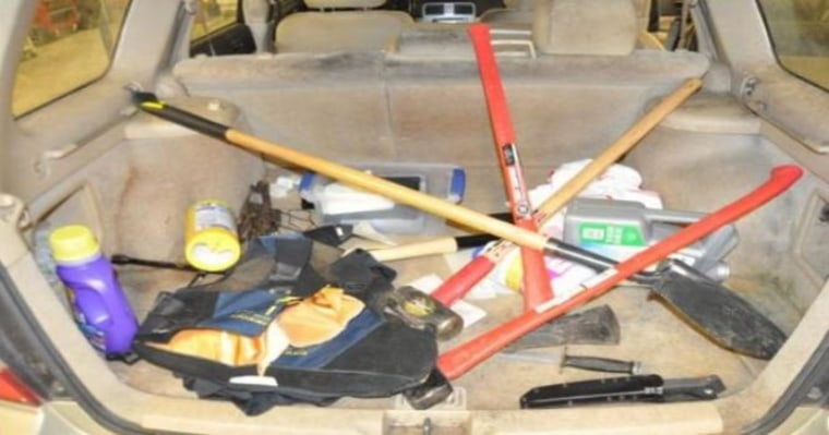 IMAGE: Tools found in Neal Falls' car
