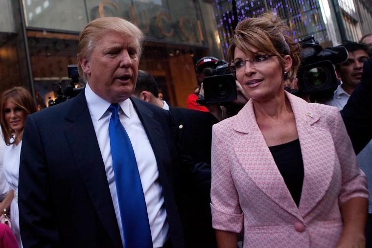 Image: Sarah Palin Meets With Donald Trump In New York During Her Bus Tour