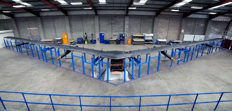 The full-scale version of Facebook's Aquila unmanned aircraft. (click to see full size)