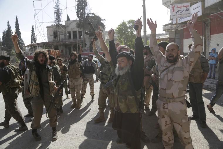 Image: Members of al Qaeda's Nusra Front