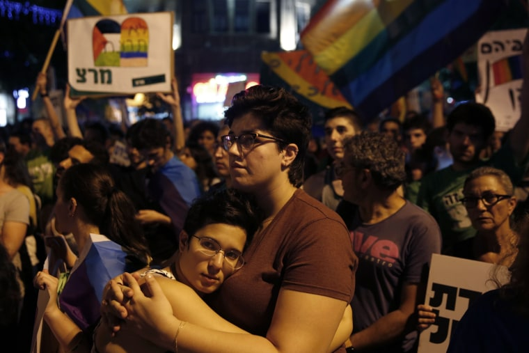 Image: ISRAEL-GAY-CRIME-PROTEST