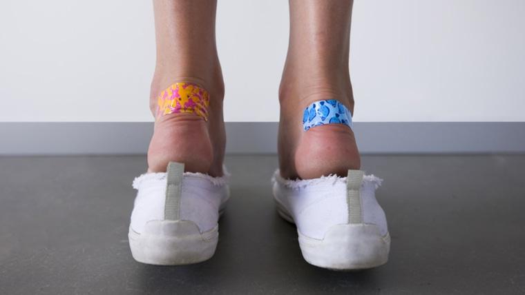 Prevent shoe blisters