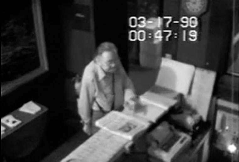 Image: Security footage shows unidentified man allegedly being allowed inside the Isabella Stewart Gardner Museum in Boston before 1990 theft