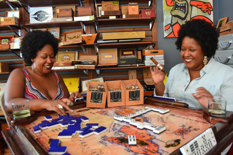 Image: Yvette and Yvonne Rodriguez launched their cigar line last year, they wanted it to represent some of the diverse Cuban races as well as honor their grandmother