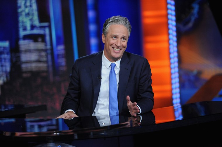 "Image: Jon Stewart hosts ""The Daily Show with Jon Stewart"""