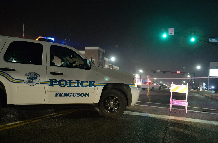 Two Police Officers ars shot as protests errupt after Ferguson Mayor announces resignation of city Police Chief
