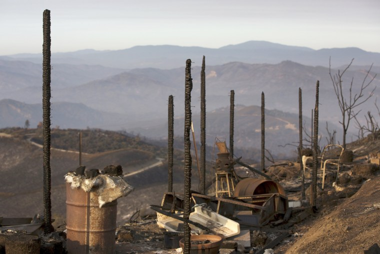 Image: Properties destroyed by the Rocky Fire are seen near Clearake, California
