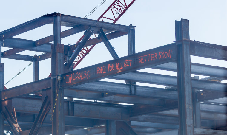 """Stony Brook Children's Hospital """"get well"""" messages from construction workers"""