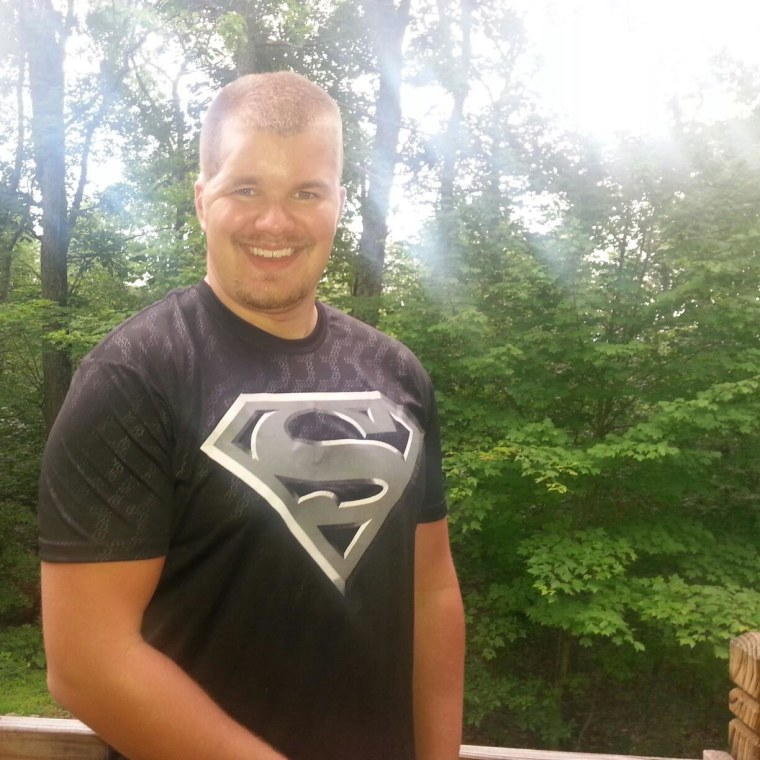 "Taylor, who loves to be known as ""Superman,"" is shown here post-injury in July 2015."