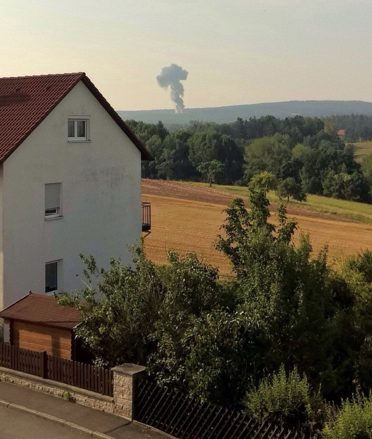 Image: Smoke rises from a field in Germany