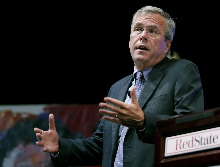 Image: Republican 2016 U.S. presidential candidate Bush speaks to attendees at the RedState Gathering in Atlanta