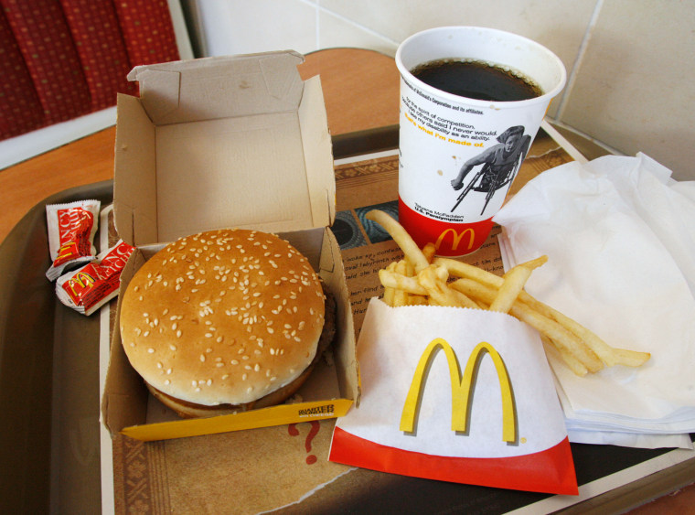 Image: A McDonald's meal is pictured at a branch of the restaurant in Los Angeles