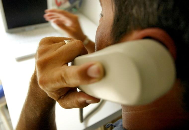 Image: man on the phone