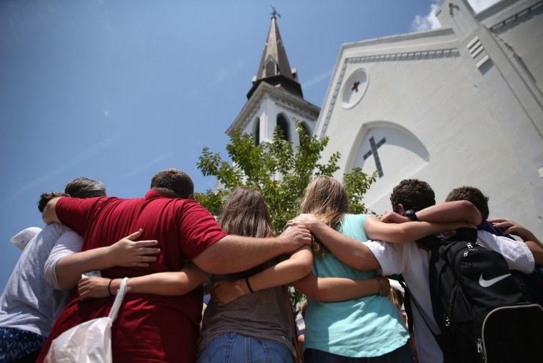 Image: *** BESTPIX *** Charleston Marks One Month Anniversary Of Church Shootings