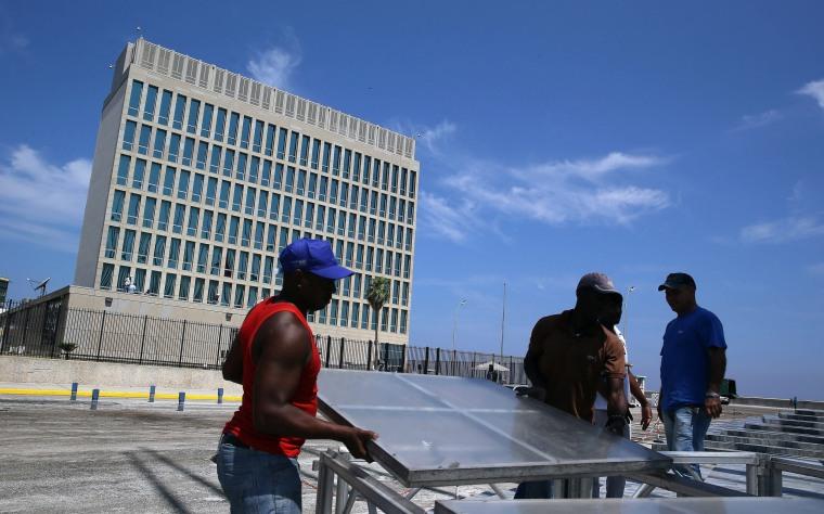 Image: Preparations ahead of Kerry visit to Havana