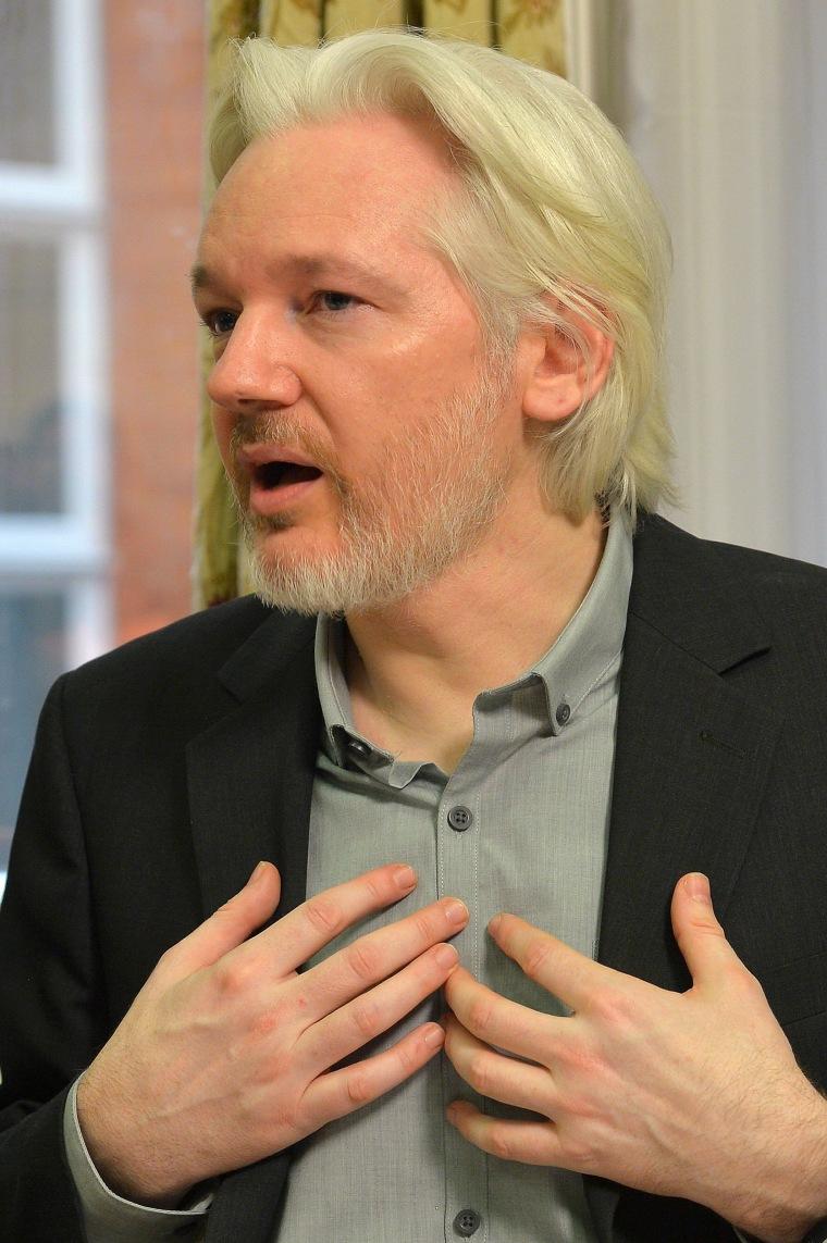 Image: Julian Assange on August 18, 2014