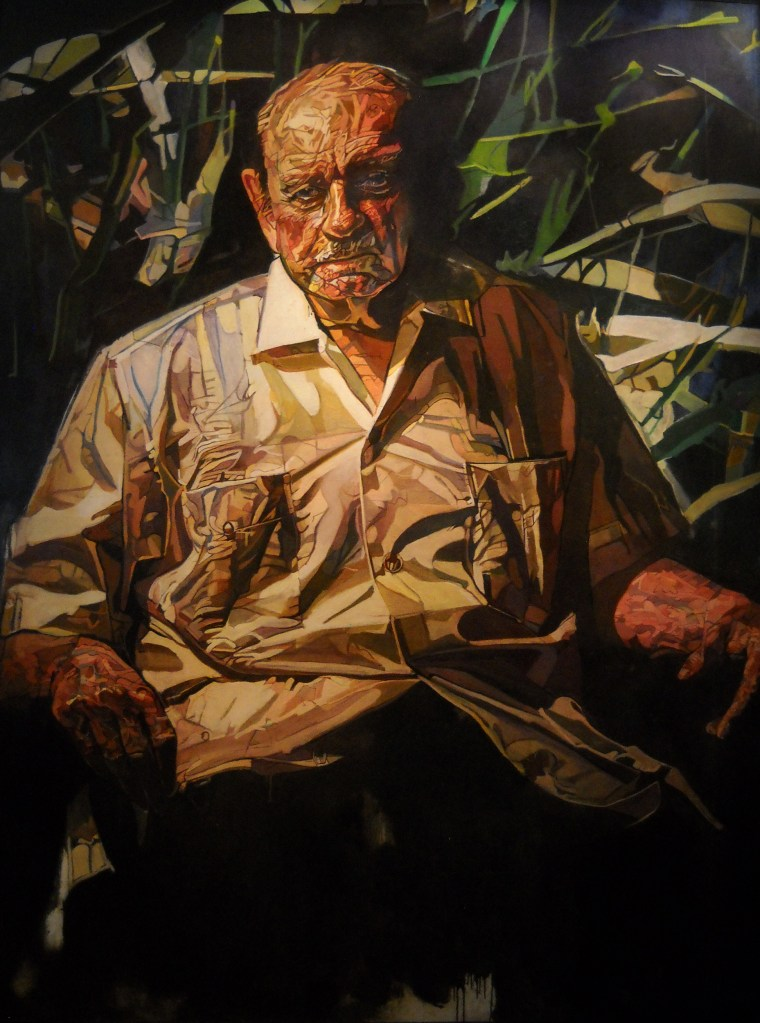 A portrait of Luis Munõz Marín, the father of modern Puerto Rico and the first democratically elected governor of the island, was unveiled at the National Portrait Gallery in Washington, D.C. Aug. 13, 2015.