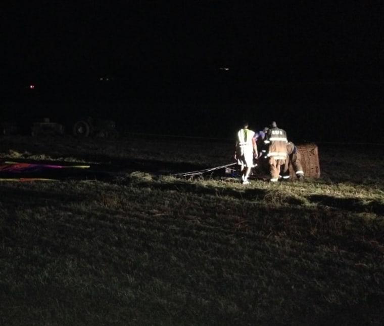 Image: A balloon hit a power line in Pennsylvania.