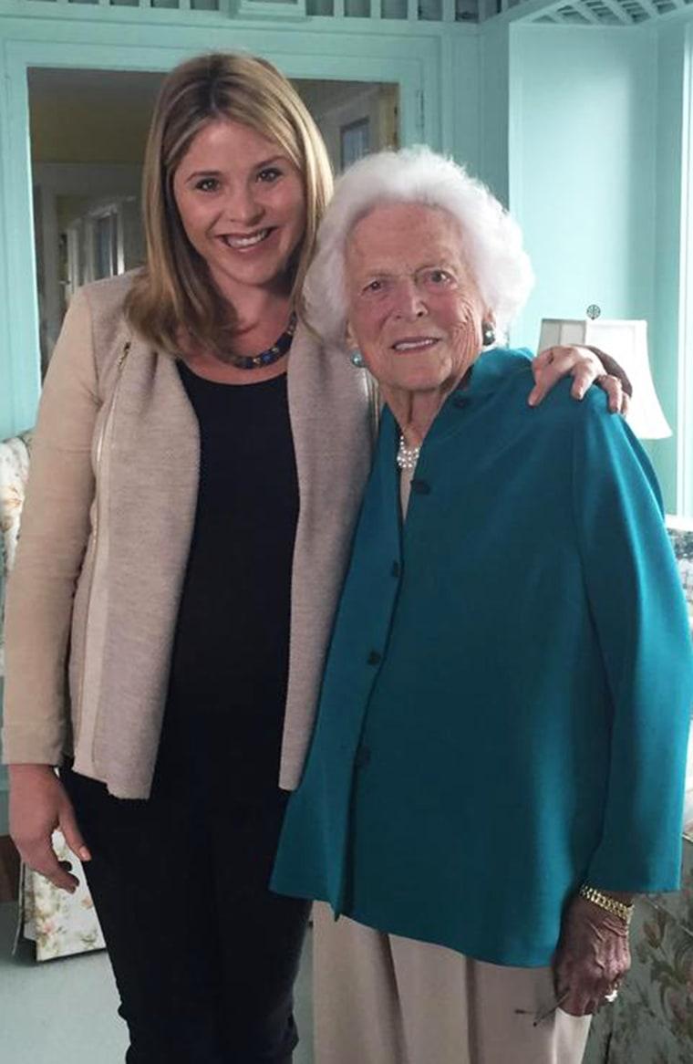 Jenna Bush Hager and Barbara Bush