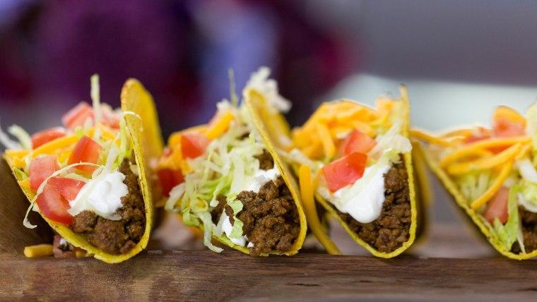 Homemade version of Taco Bell taco, recipe from Ryan Scott