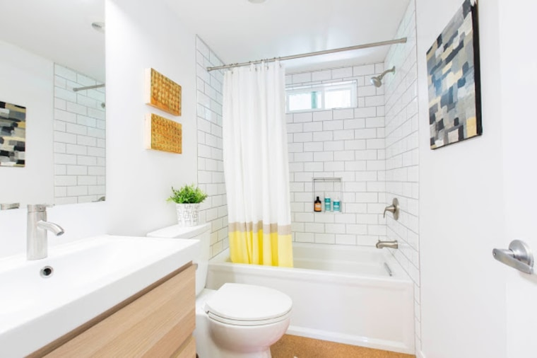 Fit Crafty Stylish And Happy Guest Bathroom Makeover: Before And After Pics! Mobile Home Remodel Take It From
