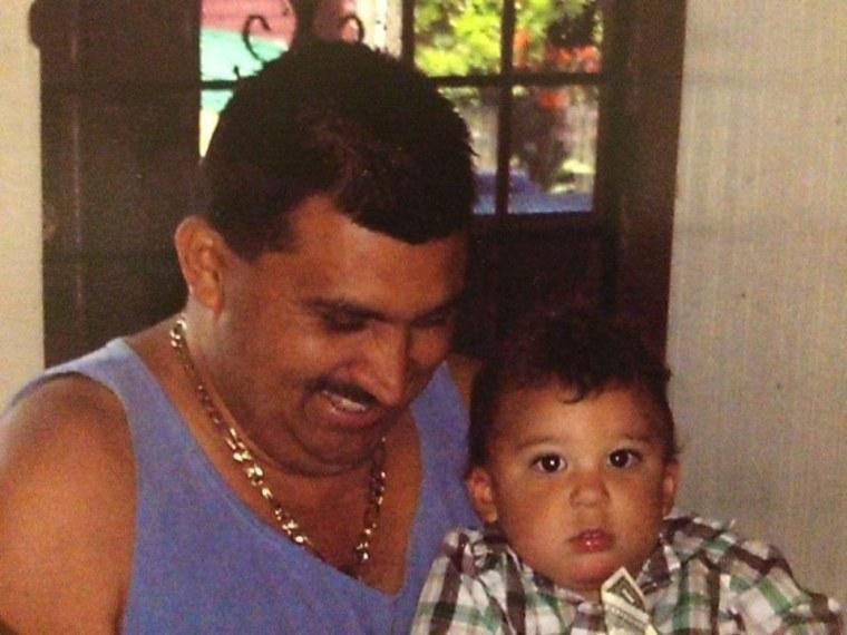 José Ricardo Garay-Garay and his son.